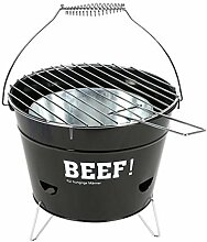 Grilleimer Ø28cm Campinggrill Picknickgrill Eimergrill Partygrill Balkongrill, Variante:BEEF