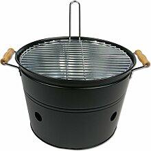 Grilleimer BBQ-Bucket, Eisen, Mattschwarz, Ø 33 x