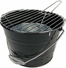 Grilleimer BBQ-Bucket, Stahl, lackschwarz, Ø27x24