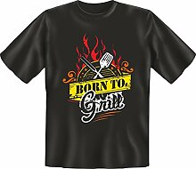 Grillen - Born to grill - Fun T-Shirt 100%