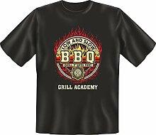 Grillen - Grill Academy - Fun T-Shirt 100% Baumwolle - Größe XL