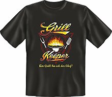 Grillen - Grill Keeper - Fun T-Shirt 100% Baumwolle - Größe L