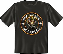 Grillen - My Grill My Rules - Fun T-Shirt 100%