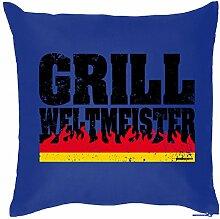 GRILLER Deko Kissen ::: Grill Weltmeister ::: Kuscheliges zum Grillen