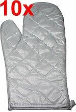 Grillhandschuh / Topfhandschuh / Ofenhandschuh silber - Mengenrabatt (je mehr umso preiswerter der Stückpreis) (10)