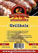 Grillholz Buche ohne Rinde incl. Anzünder und