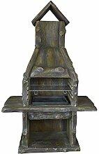 Grillkamin Rusty Wood - dekorativ, langlebig -