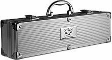 Grillkoffer BBQ Koffer Grillbesteck 5-teilig mit Ihrer individuellen Gravur