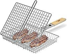Grillkorb Fischbräter aus 304 Edelstahl, BBQ