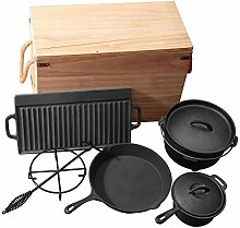 Grillmaster Gusseisen Set 9teilig Dutch Oven