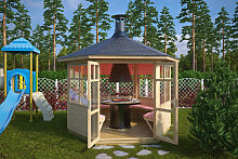 Grillpavillon Paradise 6 m² / 42mm / 3×3