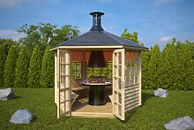 Grillpavillon Seattle 6 m² / 55mm / 3×3