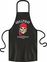 Grillpirat - Grillschürze Einheitsgrösse 100% Baumwolle - BBQ, Bar-B-Q, BBQ, Partyschürzen