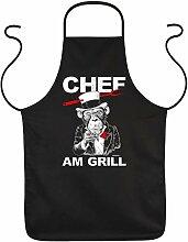 Grillschürze: Chef am Grill