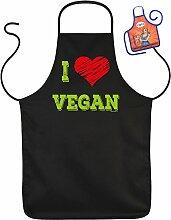 Grillschürze I Love Vegan Fun Grill Koch Küchen