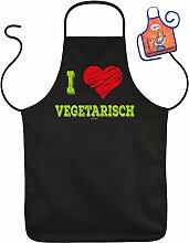 Grillschürze I Love Vegetarisch Fun Grill Koch