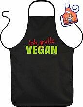 Grillschürze Ich grille Vegan Fun Grill Koch