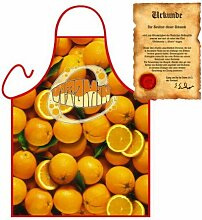Grillschürze Orange Grill Koch Küchenschürze