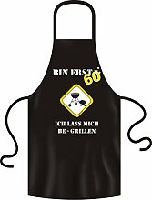 Grillschürze zum 60. Geburtstag - Bin erst 60 und lasse mich begrillen - Geburtstag Schurz Kittel Grill Grillen Spruch