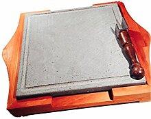 Grillstein LAVA von La Pietra Lavica 30x30x2cm mit