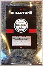 Grillstein von Grillstone® mit Edelstahlhandgriffen 30 x 20 x 2 cm