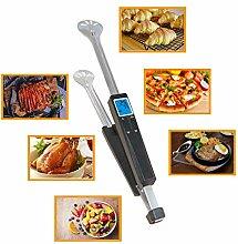 Grillzange mit digitalem Thermometer, Küchenzange