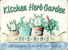 Grindstore Küche Kräutergarten Blechschild