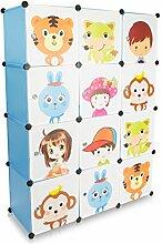 Grinscard Kinderzimmer Steckschrank - Set aus 12