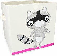 Grinscard Spielzeugkiste im Raccoon Design - ca.