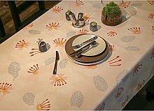 GRJH® Landhausstil Tischdecke Stoff Rechteck