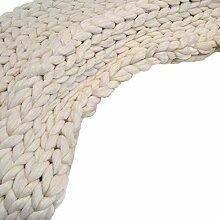 Grob Gestrickte Kuscheldecke Decke Handgefertigt