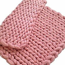 Grob Wolle Handgewebte Decke Stricken Wolldecke