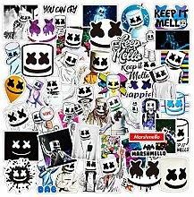 GROBRO7 Marshmellow Vinyl-Aufkleber, DJ-Musik,