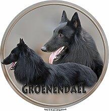 Groenendael - Belgischer Schäferhund Aufkleber 25