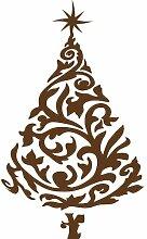 Größe 100 cm x 60 cm Farbe Braun Weihnachtsbaum,