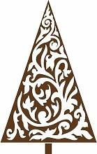 Größe 35 cm x 56 cm Farbe Braun Weihnachtsbaum, Weihnachten Aufkleber, Yule , Wandsticker , Fenster Aufkleber, ThatVinylPlace