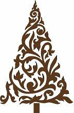 Größe 54 cm x 35 cm Farbe Braun Weihnachtsbaum, Weihnachten Aufkleber, Yule , Wandsticker , Fenster Aufkleber, ThatVinylPlace