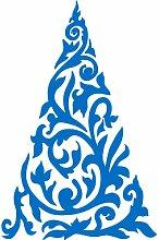 Größe 54 cm x 35 cm Farbe Medium Blue Christmas Tree , Weihnachten Aufkleber, Yule , Wandsticker , Fenster Aufkleber, ThatVinylPlace