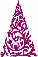 Größe 54 cm x 35 cm Farbe Raspberry Weihnachtsbaum, Weihnachten Aufkleber, Yule , Wandsticker , Fenster Aufkleber, ThatVinylPlace