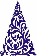 Größe 54 cm x 35 cm Farbe Sapphire Blue Christmas Tree , Weihnachten Aufkleber, Yule , Wandsticker , Fenster Aufkleber, ThatVinylPlace