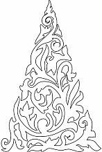 Größe 54 cm x 35 cm Farbe Weiß Weihnachtsbaum, Weihnachten Aufkleber, Yule , Wandsticker , Fenster Aufkleber, ThatVinylPlace