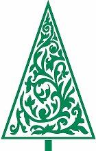 Größe 56 cm x 35 cm Farbe grün Weihnachtsbaum, Weihnachten Aufkleber, Yule , Wandsticker , Fenster Aufkleber, ThatVinylPlace