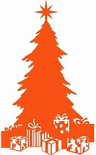 Größe 58 cm x 35 cm Farbe orange Weihnachtsbaum, Weihnachten Aufkleber, Yule , Wandsticker , Fenster Aufkleber, ThatVinylPlace