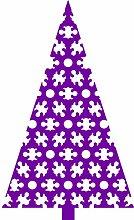 Größe 60 cm x 100 cm Farbe Purpple Weihnachtsbaum, Weihnachten Aufkleber, Yule , Wandsticker , Fenster Aufkleber, ThatVinylPlace