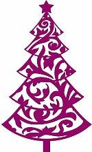 Größe 60 cm x 100 cm Farbe Raspberry Weihnachtsbaum, Weihnachten Aufkleber, Yule , Wandsticker , Fenster Aufkleber, ThatVinylPlace