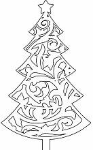 Größe 60 cm x 100 cm Farbe Weiß Weihnachtsbaum, Weihnachten Aufkleber, Yule , Wandsticker , Fenster Aufkleber, ThatVinylPlace