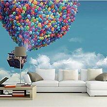 Größe Blauer Himmel Weiße Wolken Fliegen Ballon