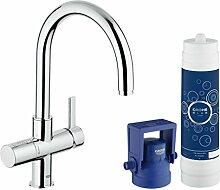 GROHE 31087001 Reines, gefiltertes Wasser Armatur, Blau