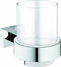 GROHE Essentials Cube | Badaccessoires - Glas mit