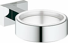 GROHE Essentials Cube | Badaccessoires - Halter für Becher | Seifenspender oder Seifenschale | 40508000